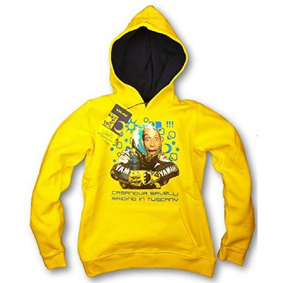 MotoGP Valentino Rossi 46 Childrens Fun Hoodie Yellow XL