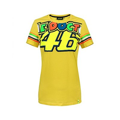 Valentino Rossi Vrwts307001001 T-Shirt Stripes, Vr46 Woman, Yellow, L 98 cm/39In Chest