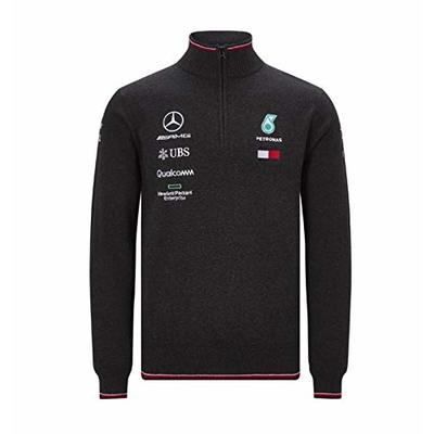 MAMGP 2019 Mercedes-AMG F1 Formula One Team Mens Half Zip Knitted Jumper – Lewis Hamilton Official Genuine Merchandise