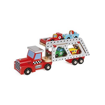 Janod F1 Racing Cars Lorry