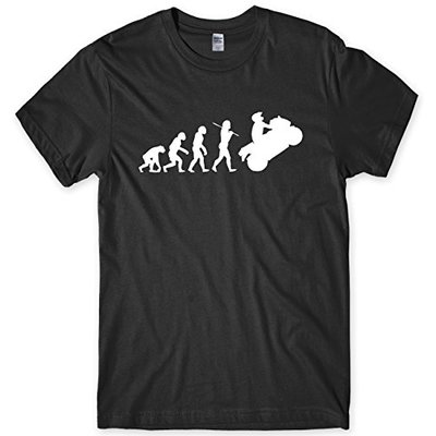 Evolution of Motorbike T-Shirt Motorcycle Rider Bike Biker Gift Mens Tee Black