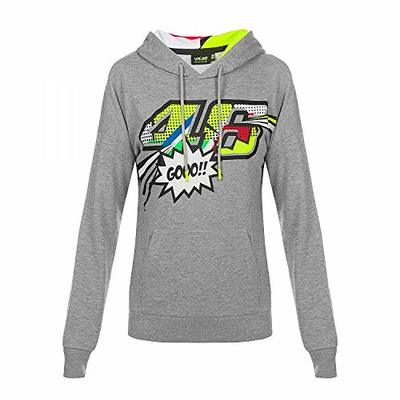 Valentino Rossi Pop Art, Women's Sweatshirt, Light Gray, S