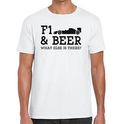 TeeDemon F1 and Beer What Else is There? – Funny – Mens Shirts – Men's Tshirt Casual T-Shirt Gift White – M