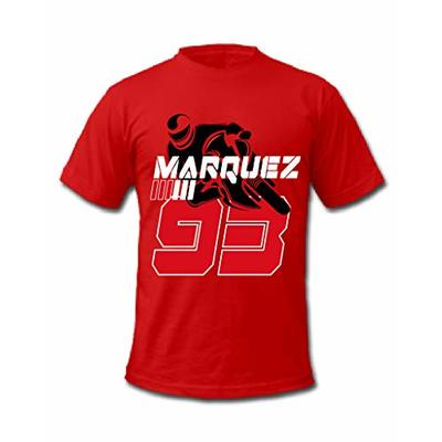 Cold Gun MotoGP Marc Marquez 93 Grand Prix World Championship Spanish Motorcycle Racer T-Shirt (XXLarge, Red)