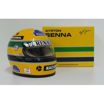 AYRTON SENNA MODEL MINIATURE HELMET 1/2 CAR F1 WILLIAMS RENAULT 1994 DIECAST