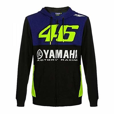 Valentino Rossi Yamaha Dual-Racing, Full Zip Hoodie Men's, Men's, YDMFL362209002, Royal Blue, M