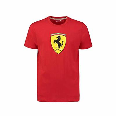 2018 FERRARI FANWEAR MENS CLASSIC TEE Red (M) 38 Inch Chest / EU 48-50