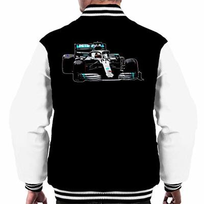 Motorsport Images Lewis Hamilton AMG F1 W10 Monaco GP Men's Varsity Jacket Black/White