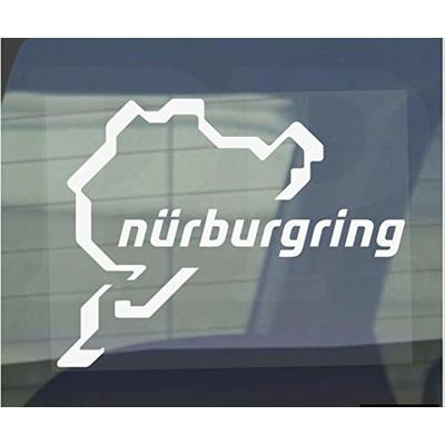 Platinum Place Nurburgring Sticker-Car,Van,Window Sign-Race Racing Track,F1,F4,M3,M4,Racer,Turbo,Driver,Driving,V8,GTI,R,GTR,Drag,Strip,Course – 112mm x 87mm