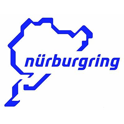 Platinum Place Nurburgring Sticker-BLUE onto WHITE Car,Van,Window Sign-Race Racing Track,F1,F4,M3,M4,Racer,Turbo,Driver,Driving,V8,GTI,R,GTR,Drag,Strip,Course – 112mm x 87mm