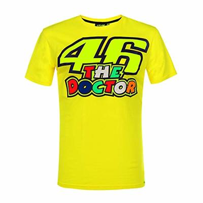 VR46 Official Rossi 46 – The Doctor Mens T-Shirt – Yellow