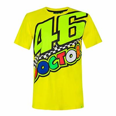 Valentino Rossi Vr46 Collection Classic Men's T-Shirt, Mens, T-Shirt, TSSHIRTVR46MY, Yellow, S