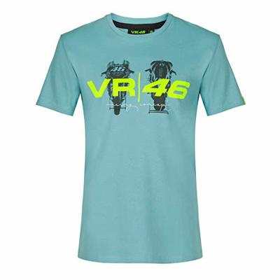 Valentino Rossi VR46 Lifestyle Collection, Men's T-Shirt, Sea Water, M