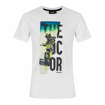 Valentino Rossi Vr46 Lifestyle Collection, Men's T-Shirt, Mens, T-Shirt, TSHIRTLIFVR2, White, XL