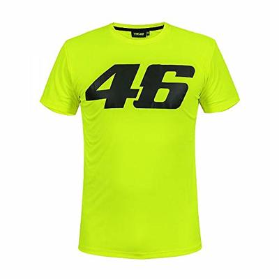 Valentino Rossi 2019 VR46 Core Mens T-Shirt YELLOW Tee Adults Sizes XS-XXL