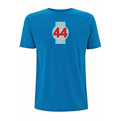 44 F1 T Shirt Lewis Hamilton Number Formula 1 Racing UK Driver World Champion (X Large, Electric Blue)