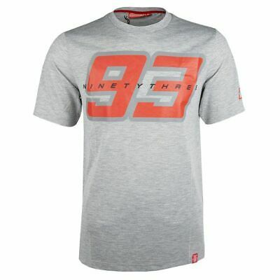 2019 Marc Marquez MotoGP Mens 93 Logo T-Shirt Grey Big Ant Tee Sizes S-XXXL