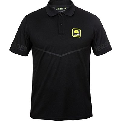 Valentino Rossi VR46 Riders Academy Collection, Men's Polo Shirt, Black, L