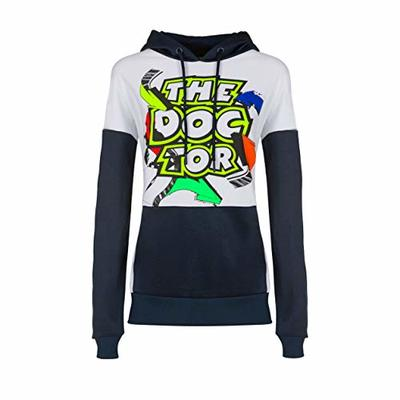 Valentino Rossi Womens Hoodie VR46 Moto GP Street Art The Doctor Official 2020