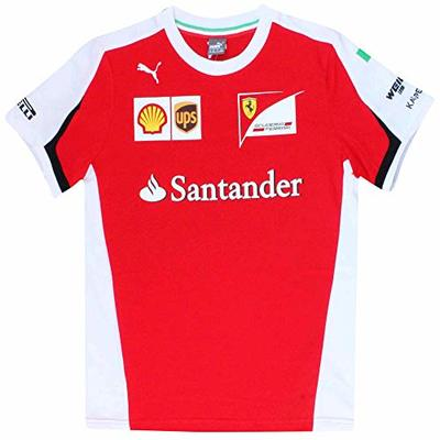 Scuderia Official F1 Kids T-Shirt for Team Ferrari (100% Cotton) (Kids Ages 3 to 16 Years) (Kids Age 9-10)
