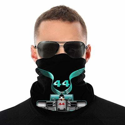 Emonye Racing Driver Champio Lewis Hamilton 44 Windproof Bandana Face Mask Neck Gaiter Scarf Dust Wind Balaclava Headwear for Sun Dust UV White