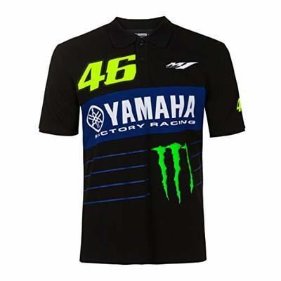 Valentino Rossi Men's Yamaha Monster 46 Polo Shirt, Black, L