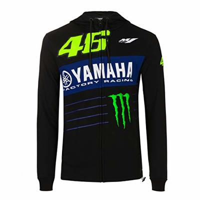 Valentino Rossi Sweatshirt Yamaha Monster 46 Jumper, Black, L