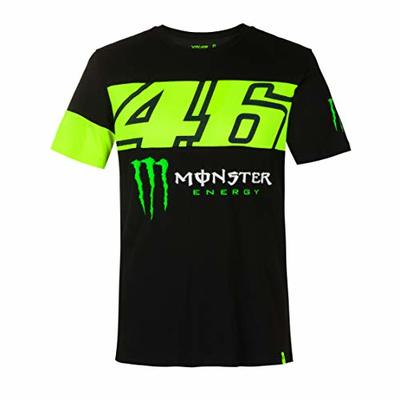 Valentino Rossi Men's Monster Dual T-Shirt, Black, XX-Large, 124 cm/49 inches, Chest