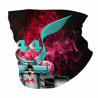 JHBJASGD Racing Driver Champio Lewis Hamilton 44 Unisex Face Ma-sk Neck Gaiter Balaclavas Face Cover Wind-Proof Headscarf for Outdoors