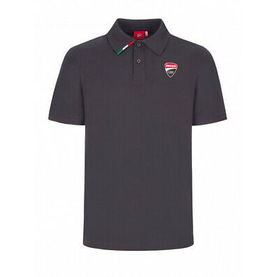 Ducati Polo with Logo Black/Grey XL New