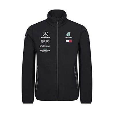 MAMGP 2019 Mercedes-AMG F1 Formula One Team Mens Softshell Fleece Jacket Coat – Lewis Hamilton Official Genuine Merchandise