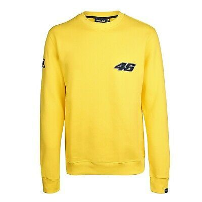 SWEATSHIRT Crew 2002-01 Adult Bike MotoGP Valentino Rossi VR|46 NEW! Yellow