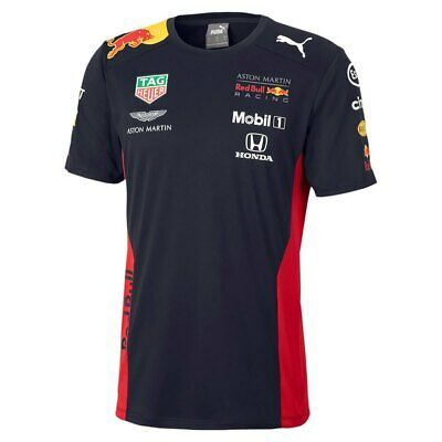 PUMA ASTON MARTIN RED BULL RACING TEAM T-SHIRTS MEN´S CLOTHING BLACK