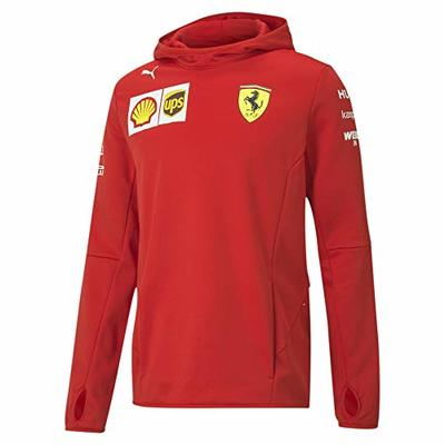 PUMA Ferrari Team Tech Fleece Hooded Men's Jacket Rosso Corsa M