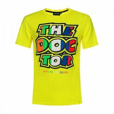 Valentino Rossi T-shirt VR46 MotoGP The Doctor Stripes Yellow Official 2019