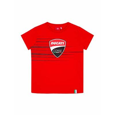 Ducati Corse Logo Stripe Official MotoGP Tshirt – Child – Red – 6/8 Years