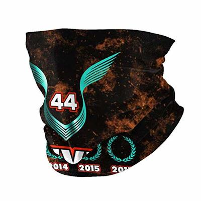 Lewis Hamilton 44 Seamless Face Mask Mouth Cover Scarf Bandanas Variety Head Scarf Headwrap Neckwarmer Neck Gaiter For Outdoors Sports Music Festivals Raves Riding