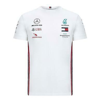 Mercedes AMG Petronas Men's Replica Driver T-Shirt | White | 2020