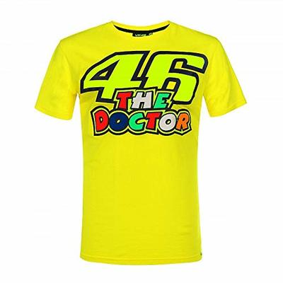 Valentino Rossi Vr46 Classic-46 The Doctor Men's T-Shirt, Yellow, L
