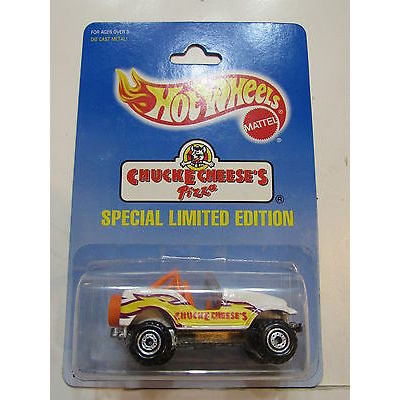 HOT WHEELS 1991 CHUCKE CHEESE'SPECIAL LIMITED EDITION JEEP