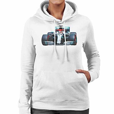 Motorsport Images Lewis Hamilton AMG F1 W10 Monte Carlo Women's Hooded Sweatshirt White