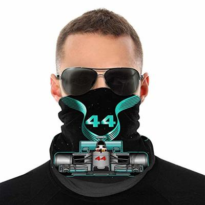 BAMANER Racing Driver Champio Lewis Hamilton 44 Unisex Face Ma-sk Bandana Dustproof Headband Neck Gaiter Balaclava Headwear Breathable Face Cover for Outdoors