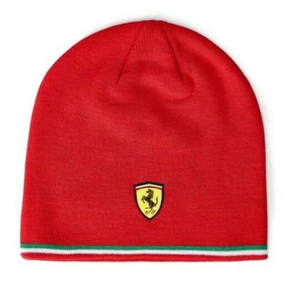 Ferrari SF FW Knitted Unisex Adults Red Hat Beanie