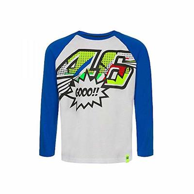 Valentino Rossi VRKTS353606005, T-Shirt A Long Sleeves Pop Art Baby, Unisex, White, 6/7 Years