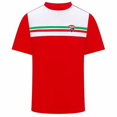 Ducati Corse 2019 Racing MotoGP Mens T-Shirt 100% Cotton Italian Flag Design