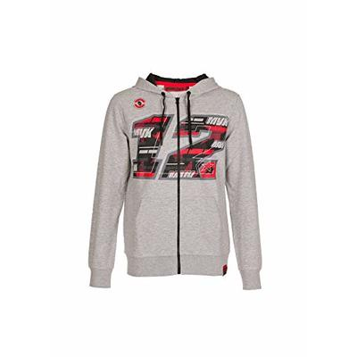 Valentino Rossi Maverick Vinales Collection Men's Zip Sweatshirt, mens, VIMFL367105, grey, M