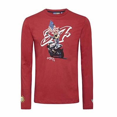 Kevin Schwantz T Shirt 3502 07 Longsleeve Bike MotoGP 34 Red Medium