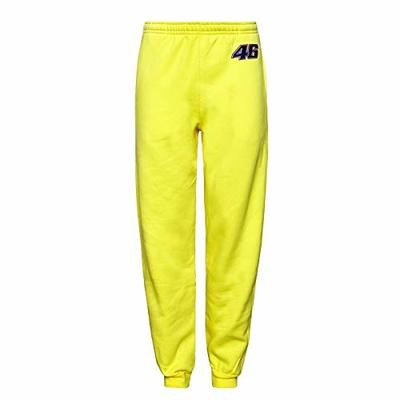 Valentino Rossi Mens Yellow Gym Tracksuit Jog Bottoms L