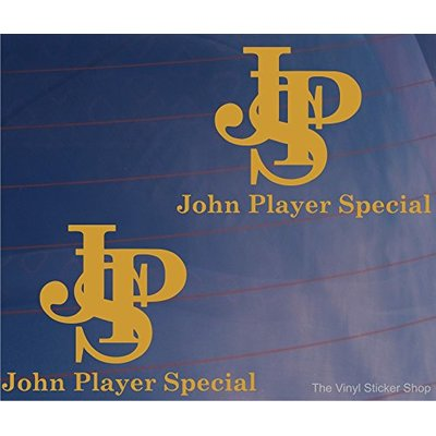 2x Car Stickers JPS JOHN PLAYER SPECIAL F1 Formula One Livery Window Boot Decals