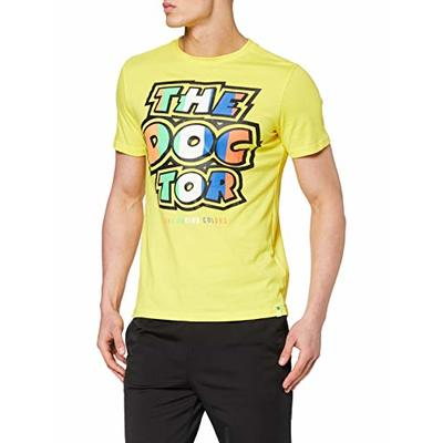 Valentino Rossi Vr46 Classic-Stripes, T-Shirt Men, Yellow, M